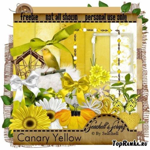 Скрап-набор – Жёлтая канарейка