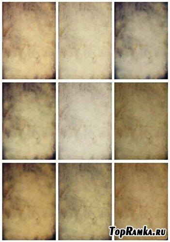 Набор текстур старой бумаги