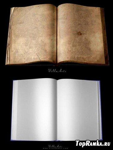 Новая книга и старая книга (многослойные PSD)