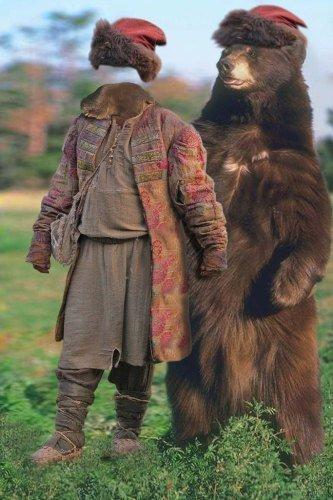 Шаблон для фотошоп – Лучший друг медведя