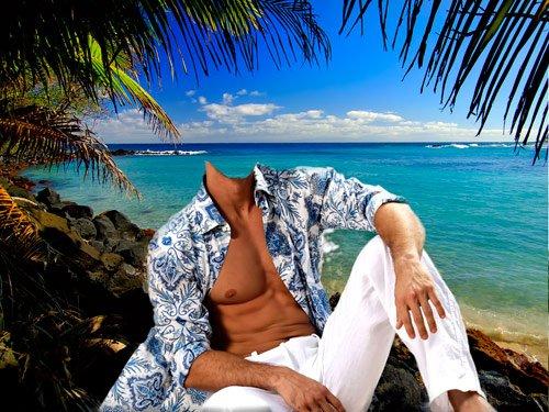 Шаблон для фотошопа – Я на берегу океана