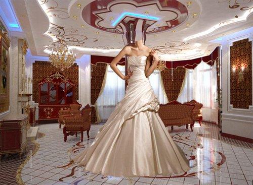 Шаблон для фотошопа – Девушка в свадебном платье