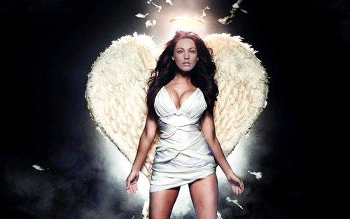 Шаблон женский - ангел с нимбом