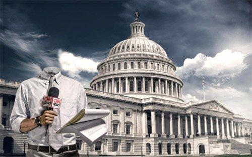 Мужской шаблон - репортер CNN