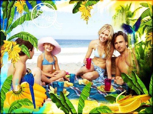 Рамочка для photoshop - Банановый рай