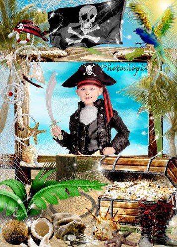 Рамка детская для Photoshop – Золото пиратов
