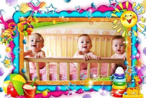 Детская рамка для фото - Мои первые игрушки