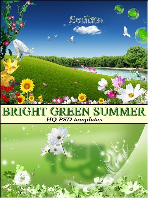 Яркие цвета летней природы (layered psd)