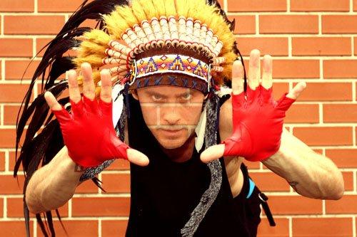 Шаблон для фотомонтажа - в костюме индейца