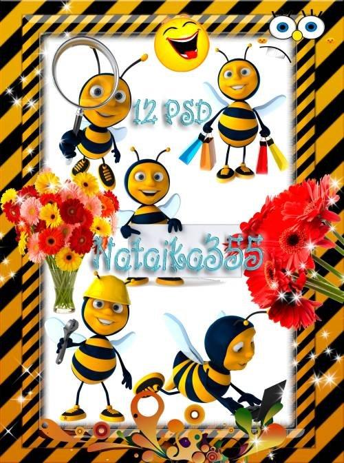Детский скрап-набор - Золотистая пчела, полосатая трудяга