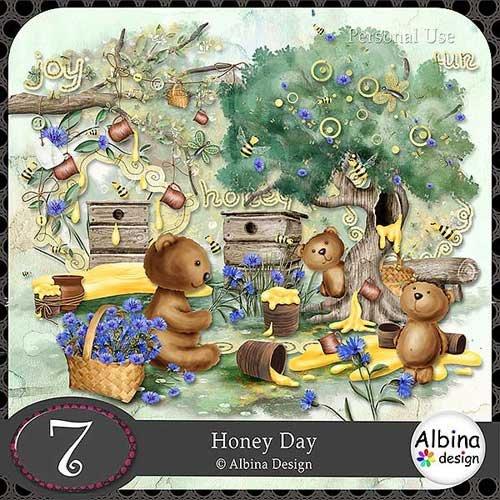 Очаровательный скрап-набор - День меда
