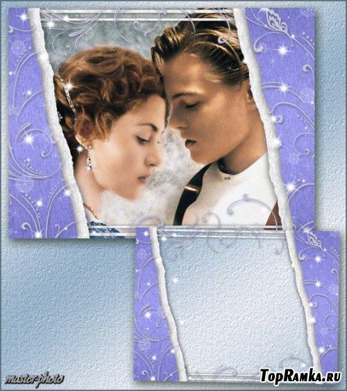 Романтическая рамка для фотошопа – Завитки желаний