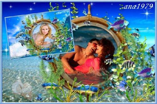 Рамка для фотошопа - Морские обитатели