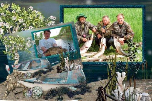 Рамка для фотошопа - Что может быть приятнее рыбалки