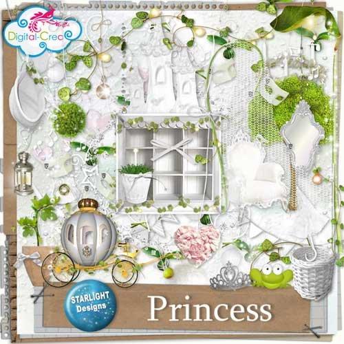Яркий детский скрап набор - Принцесса