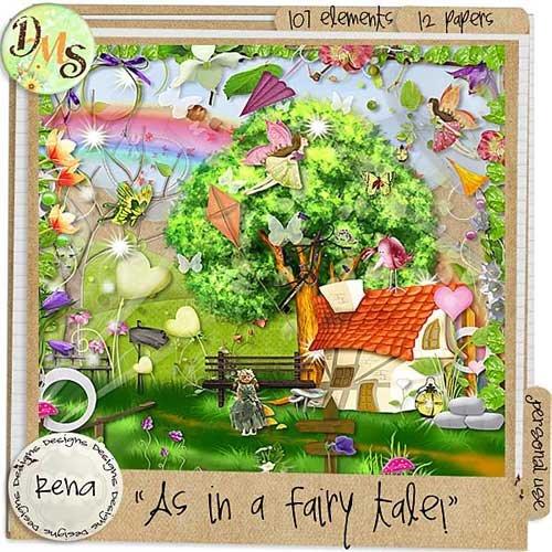 Детский сказочный скрап-набор - Волшебный рассказ