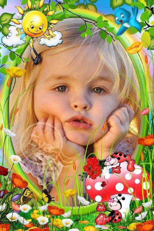 Детская рамка для фотографий - Божьи коровки