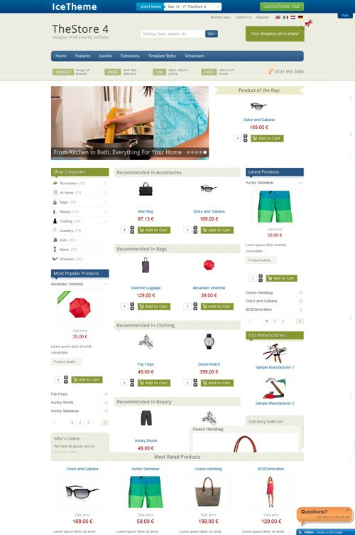 IceTheme - IT TheStore 4 Template For Joomla 2.5