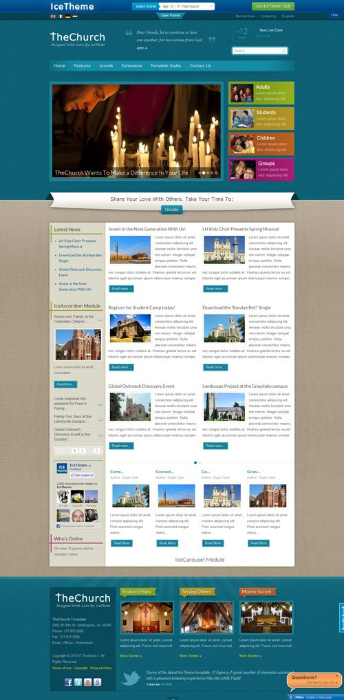 IceTheme - IT TheChurch Template For Joomla 2.5