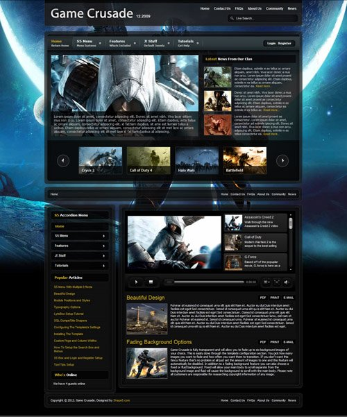 Shape5 - Game Crusade Joomla 2.5 Template