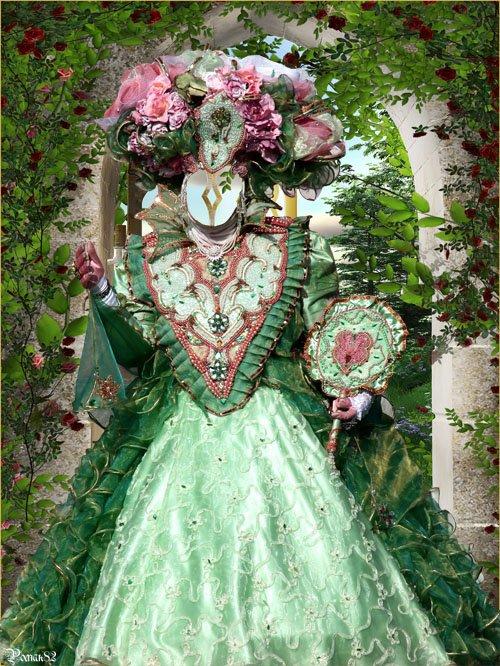 Шаблон для фотомонтажа - венецианский костюм
