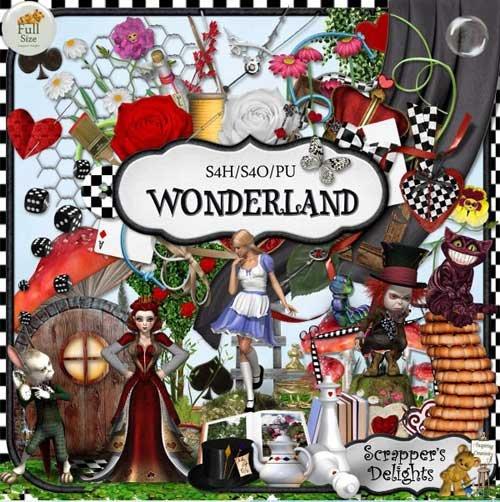 Сказочный скрап-набор - Алиса в стране чудес