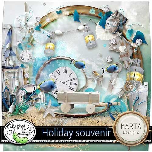 Морской скрап-набор - Сувенир с праздника