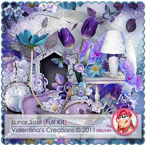 Цветочный скрап-набор - Лунная соната