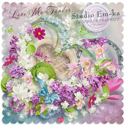 Цветочный скрап-набор - Нежная любовь моя