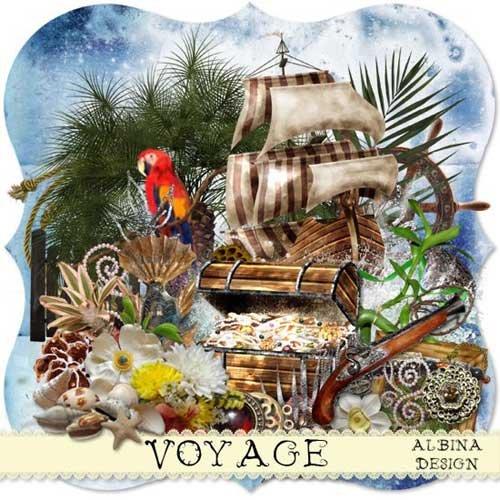 Морской скрап-набор - Путешествие