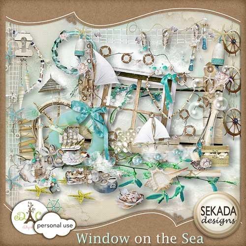 Морской скрап-набор - Окно на море