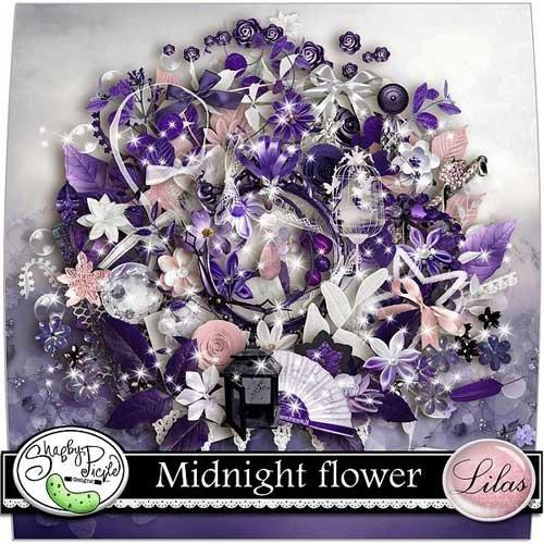 Очаровательный скрап-набор - Полуночный цветок