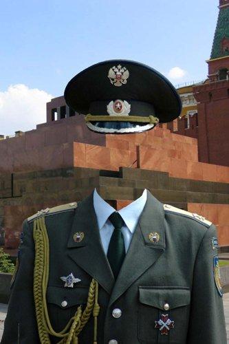 Шаблон для фотошоп – Кремлевский курсант