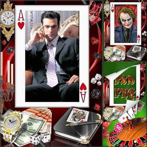 Фоторамка мужская  - Джокер