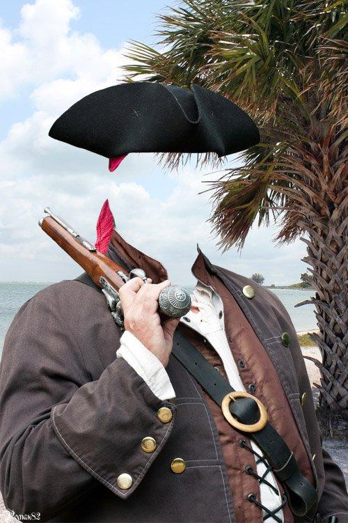 Шаблон для фотомонтажа - пират