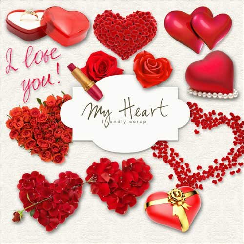 Скрап-набор - Моё сердце
