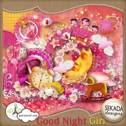 Детский скрап-набор - Сладких снов малышка