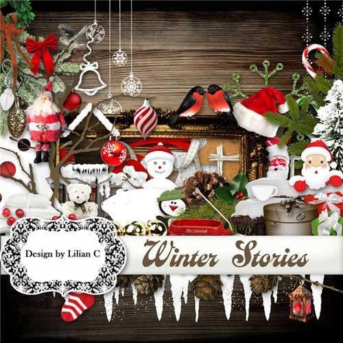 Новогодний скрап набор - Новогодние истории