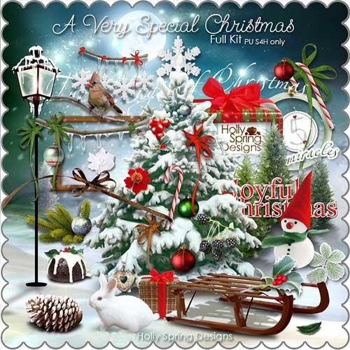 Рождественнский скрап-набор - Волшебное и чудестное Рождество