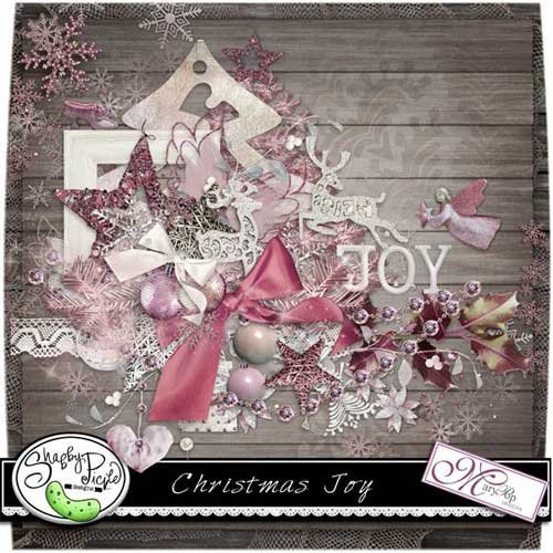 Нежный рождественнский скрап набор - Рождественская радость