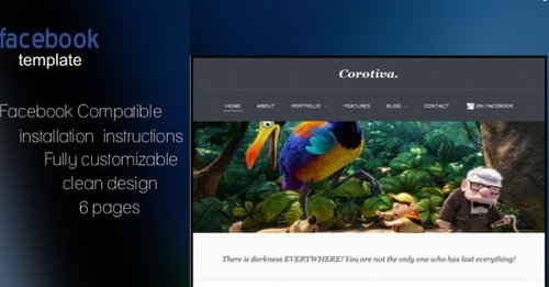 ThemeForest - Corotiva - Facebook Business Template
