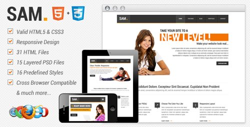 ThemeForest - Sam Premium HTML Template
