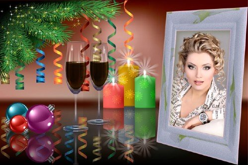 Новогодний уголок фотошоп рамка