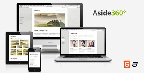 ThemeForest - Aside360° - Responsive HTML5 One-Page Theme