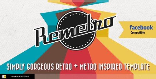 ThemeForest - Remetro | Single Page Portfolio