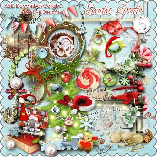 Новогодний скрап-набор - Грот Санты
