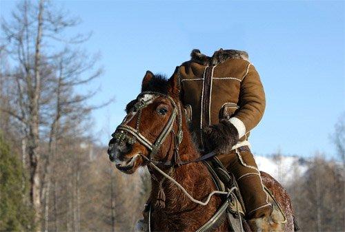 Мужской шаблон - конная прогулка