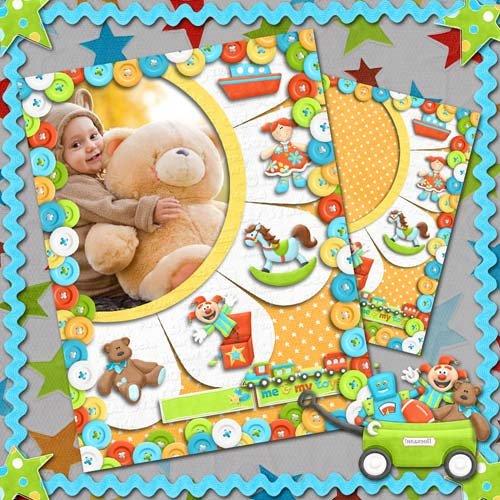 Рамка для детских фото - Игра - любимое дело