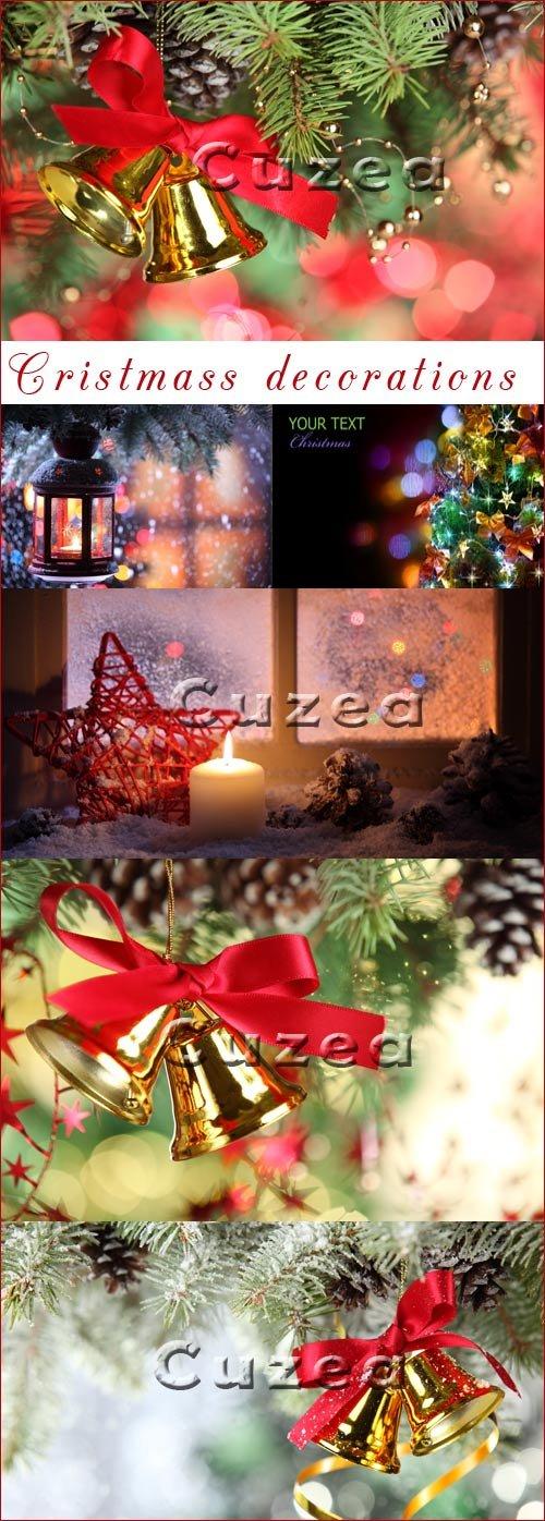 Новогодние и рождественские элементы декорации - Stock photo