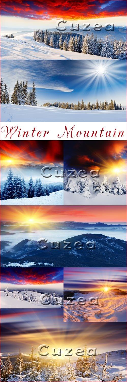 Зимние горы - Stock photo
